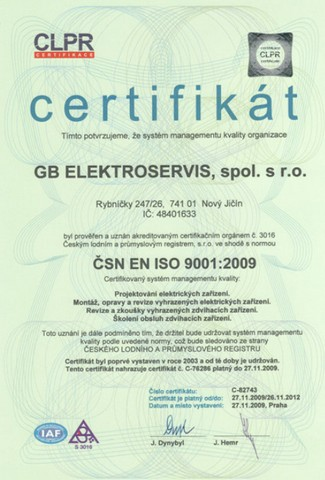 GB ELEKTROSERVIS, spol. s.r.o. - fotografie 6/6