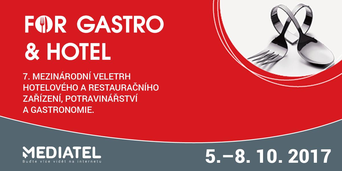 Zveme vás na 7. ročník mezinárodního veletrhu FOR GASTRO & HOTEL 2017 - fotografie 1/1