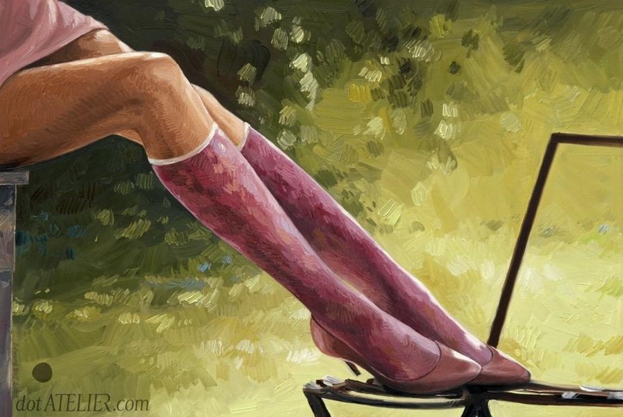 """""""Borůvková"""" – malovaný obraz na prodej"""