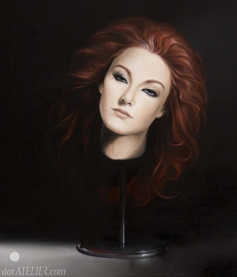 """""""Náhradní hlava – olejomalba na plátně k prodeji"""