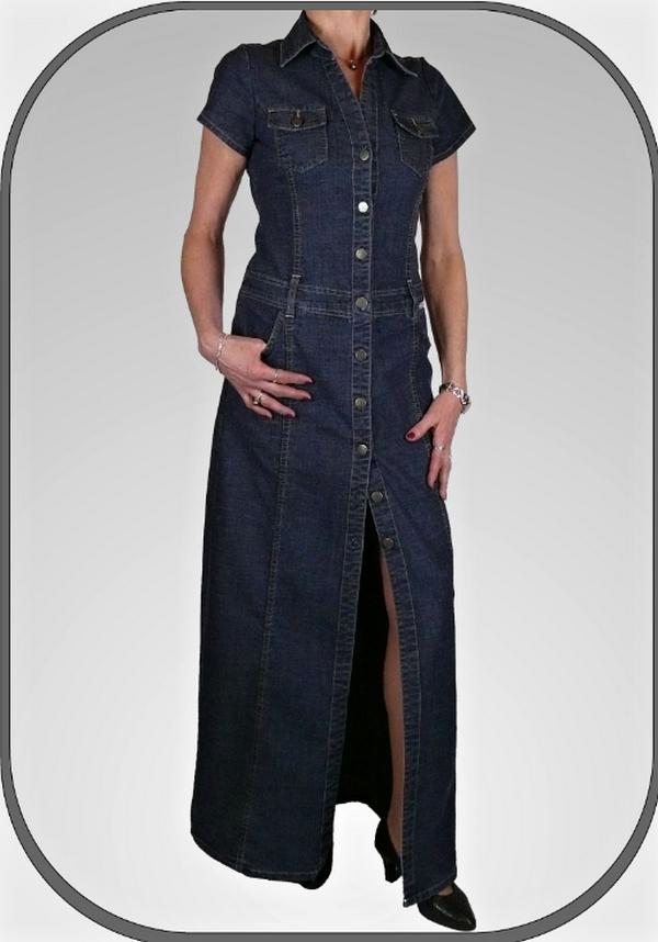 Dlouhé jeansové šaty