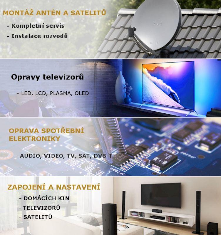 Oprava elektroniky, Montáž antén a satelitů