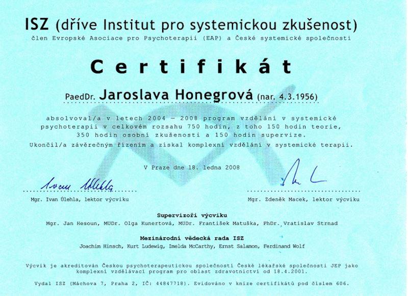 Honegrová Jaroslava PaedDr. - fotografie 4/5