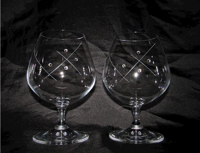 skleničky s krystaly Swarovski