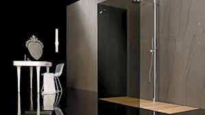sprchová zástěna: filodoccia, sprchová vanička: rasodoccia  / design: megius