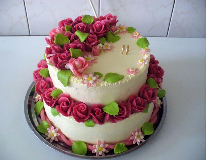 Kulatý dort 2P svatební