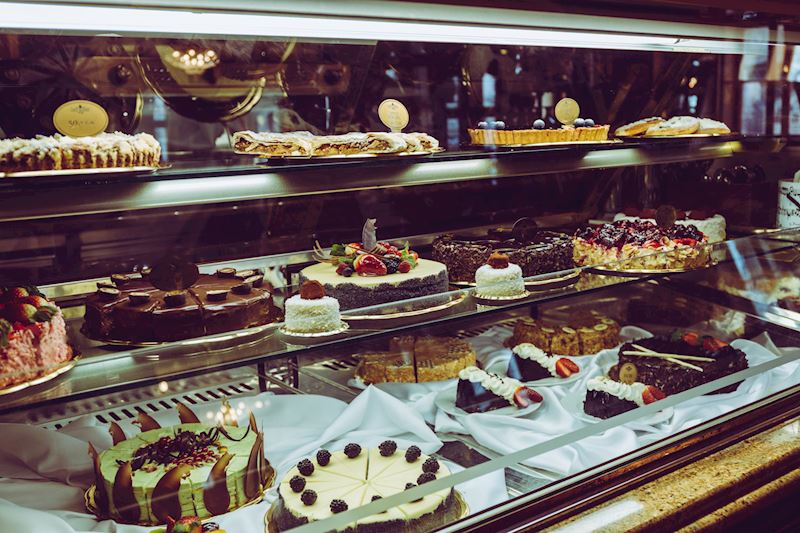 vitrína Café Mozart