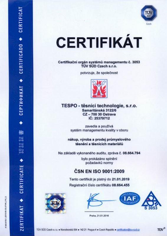 TESPO Ostrava - těsnící a izolační materiály - fotografie 10/11