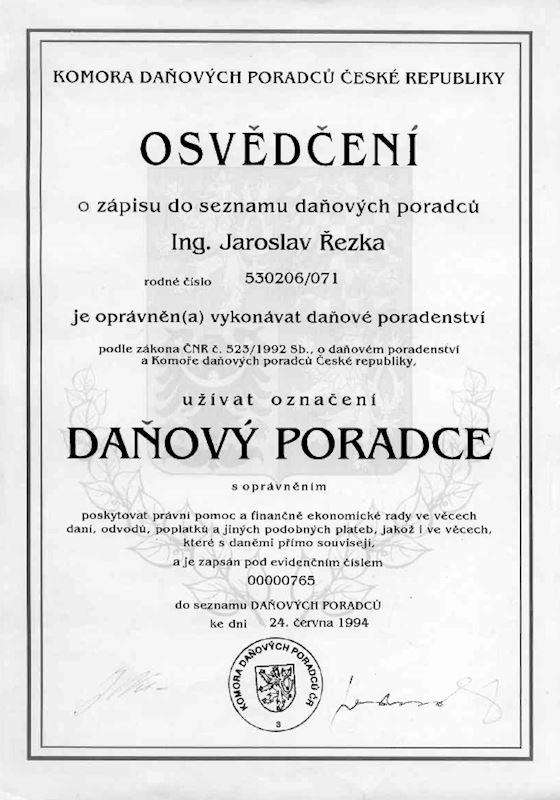 A & D Daňoví poradci a auditoři - Ing. Jaroslav Řezka - fotografie 2/5
