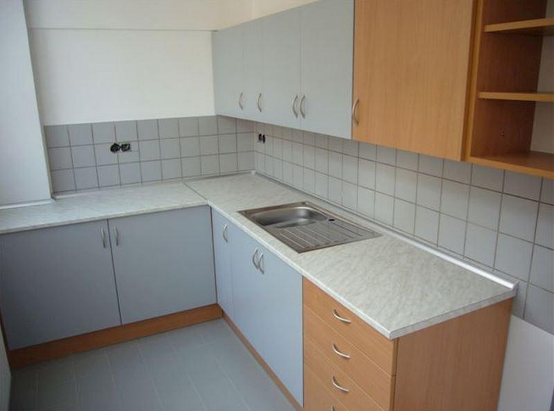 Kuchyňka v provedení lamino buk/šedá