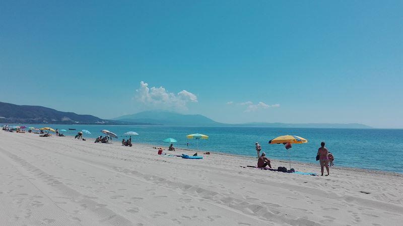 pláž v Asprovaltě - Theo beach +vila Vergina