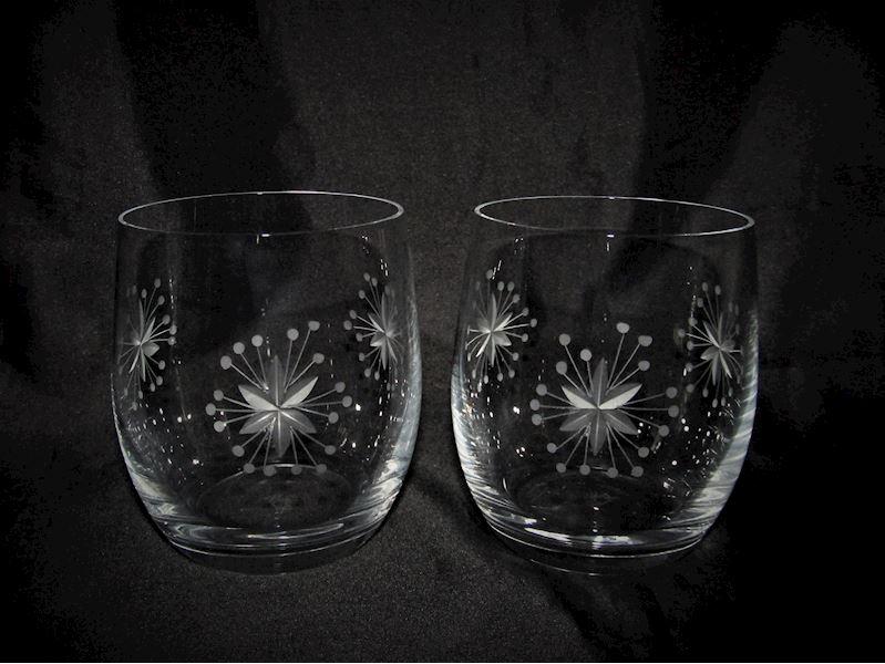 skleničky na vodu dekor Vločka