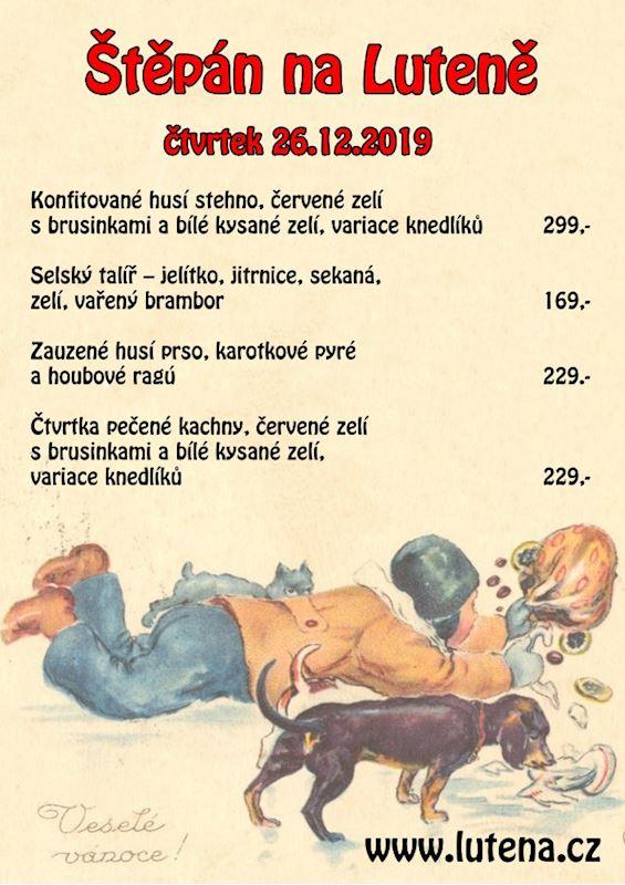 Štěpánské menu na Luteně