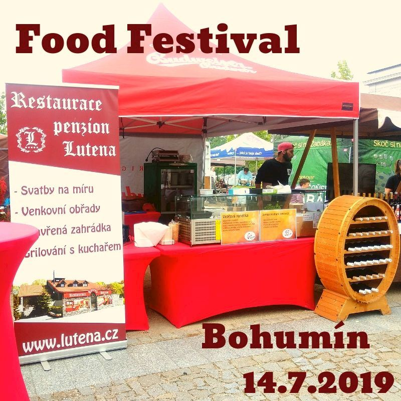 Food festival 14.7.2019 Bohumín Lutena stánek