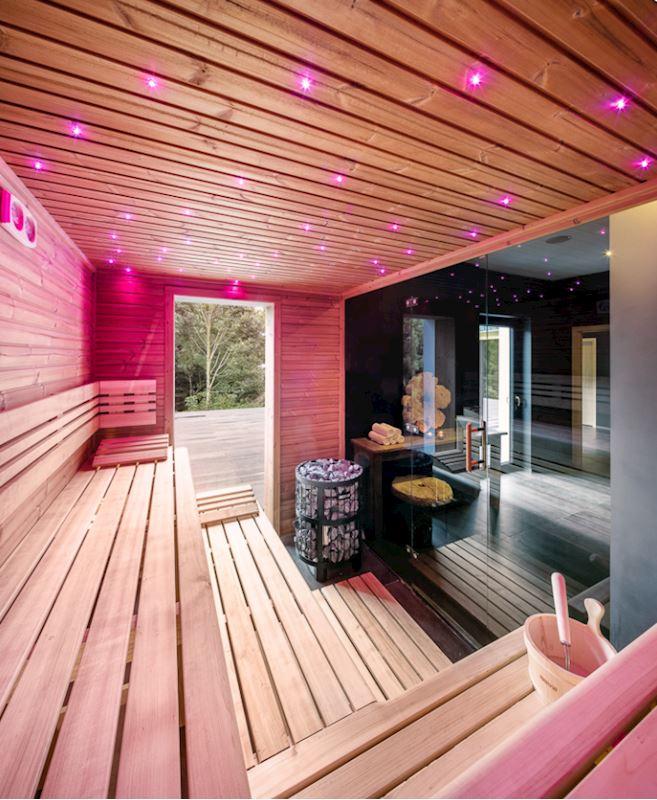Luxury Mountain Spa - vnitřní část se saunou