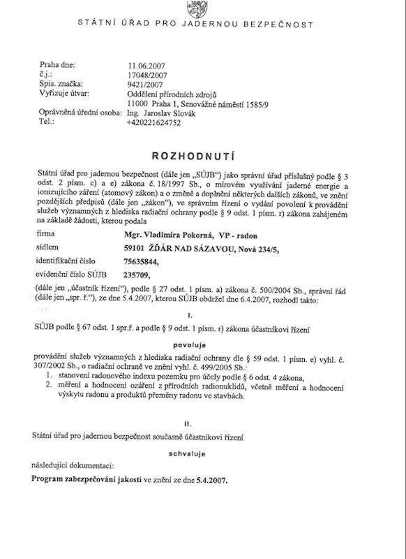 VP-Radon - Pokorná Vladimíra Mgr. - fotografie 3/4