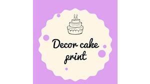 Decor cake print