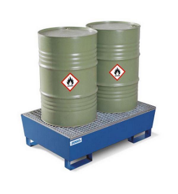 Záchytná vana z oceli pro 2 sudy à 200 l