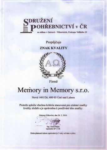 Memory In Memory s.r.o. - fotografie 21/21