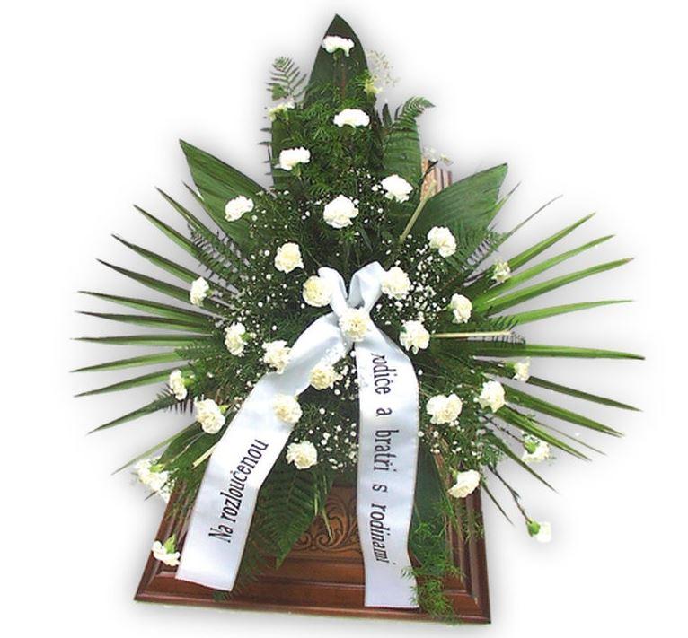 Smuteční vypichovaná kytice na položení