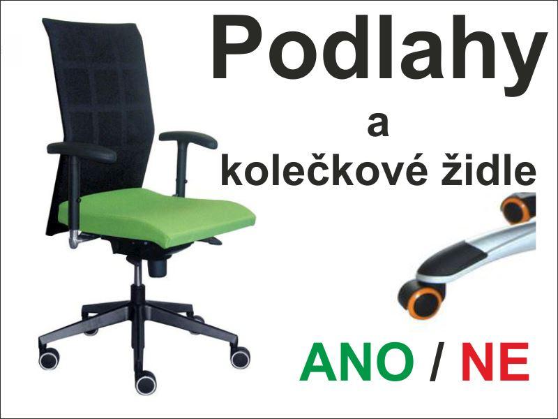 Kolečkové židle na podlahy