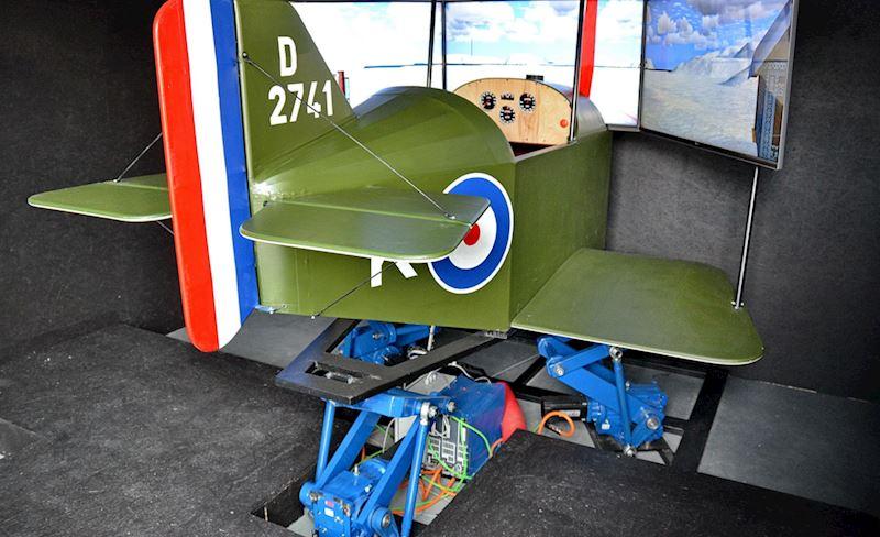 Letecké simulátory v muzeu LMMV