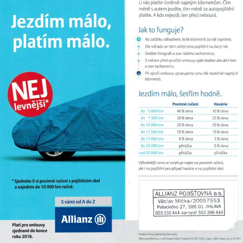 Allianz pojišťovna - Mička Václav - fotografie 1/1