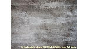 Vinylová podlaha k lepení BUKOMA DRYBACK - DUB MUSTY
