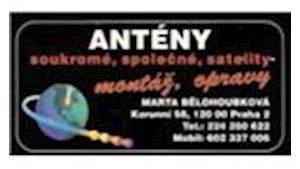 Antény Bělohoubková - montáž satelitů a antén