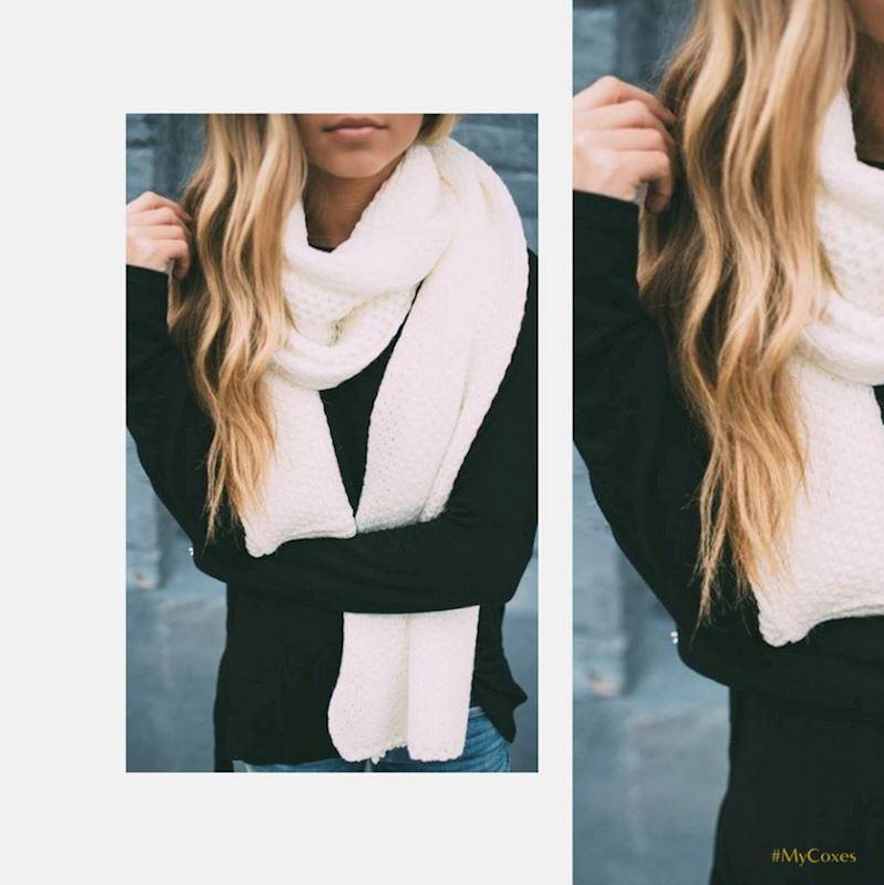 Pletené zimní šály jendobarevné