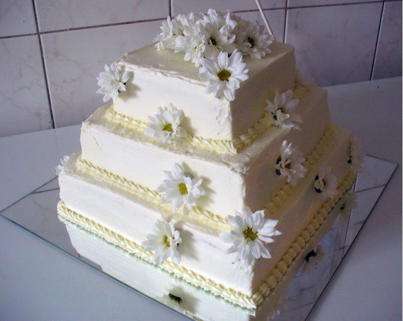 Svatební dort 3P hranatý