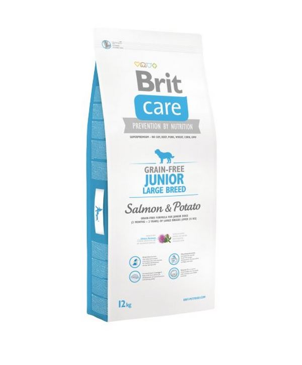 NEW Brit Care Grain-free Junior Large Breed Salmon & Potato 12kg