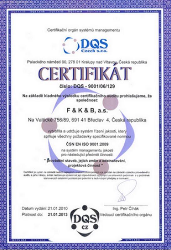 F&K&B, a.s. - stavební firma, projekční a obchodní společnost - fotografie 14/14