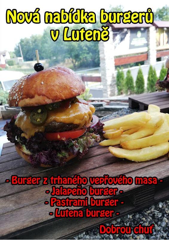 Nové burgery na Luteně