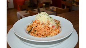 Spaghetti Florentine s kuřecím masem