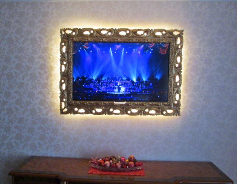 osvětlení rámu na televizi
