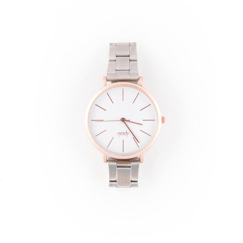 Elegantní dámské hodiny stříbrný náramek