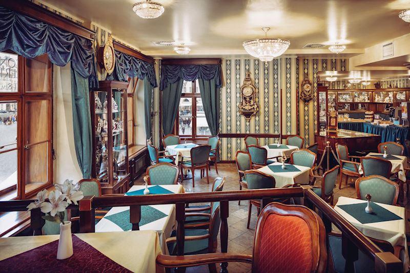 interiér Café Mozart