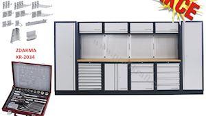 PROMO AKCE: MOBILIO - pracovní stěna 3920 x 458 x 2000mm Multiplex
