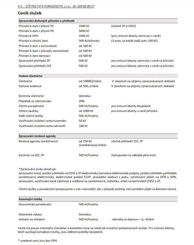 K.V.-Účetnictví a poradenství s.r.o. - fotografie 1/1