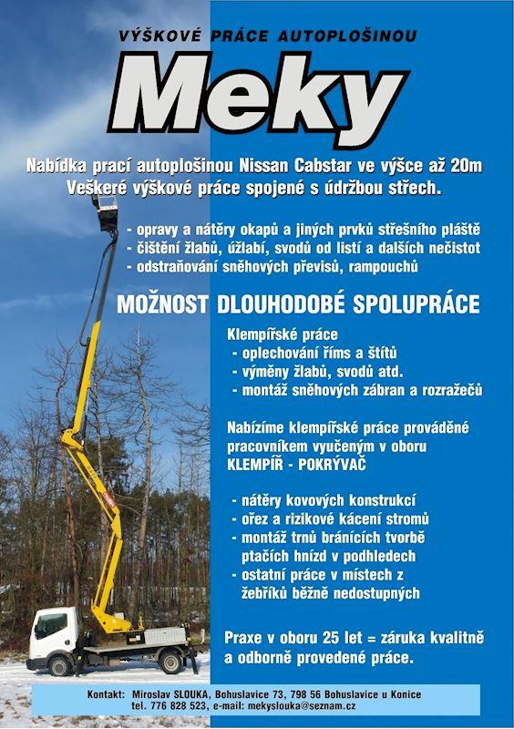 Miroslav Slouka - Výškové práce autoplošinou - fotografie 2/2