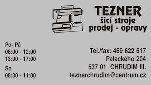 Alena Teznerová, Svatopluk Tezner - šicí stroje