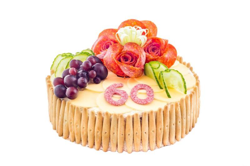 Slaný dort s bagetkami - Lahůdky JItřenka Teplice