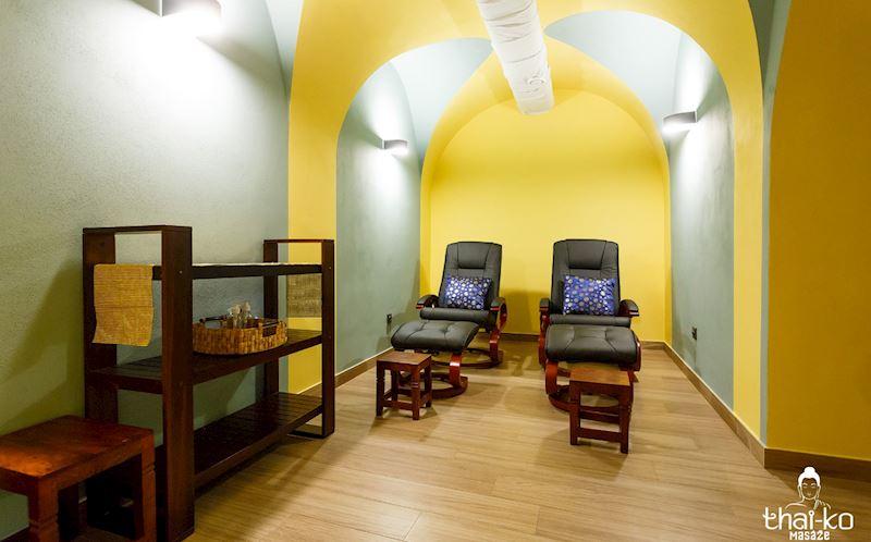Místnost pro masáž nohou
