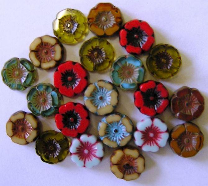 Broušené perle - Ploškované perle