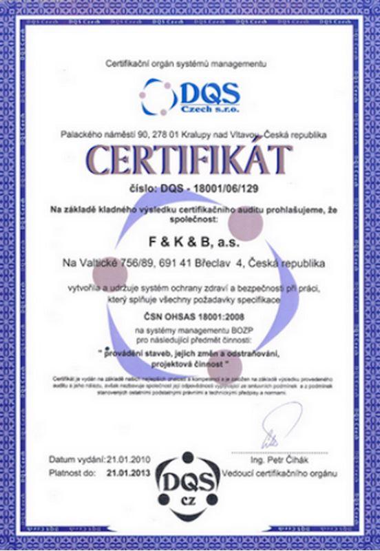F&K&B, a.s. - stavební firma, projekční a obchodní společnost - fotografie 13/14