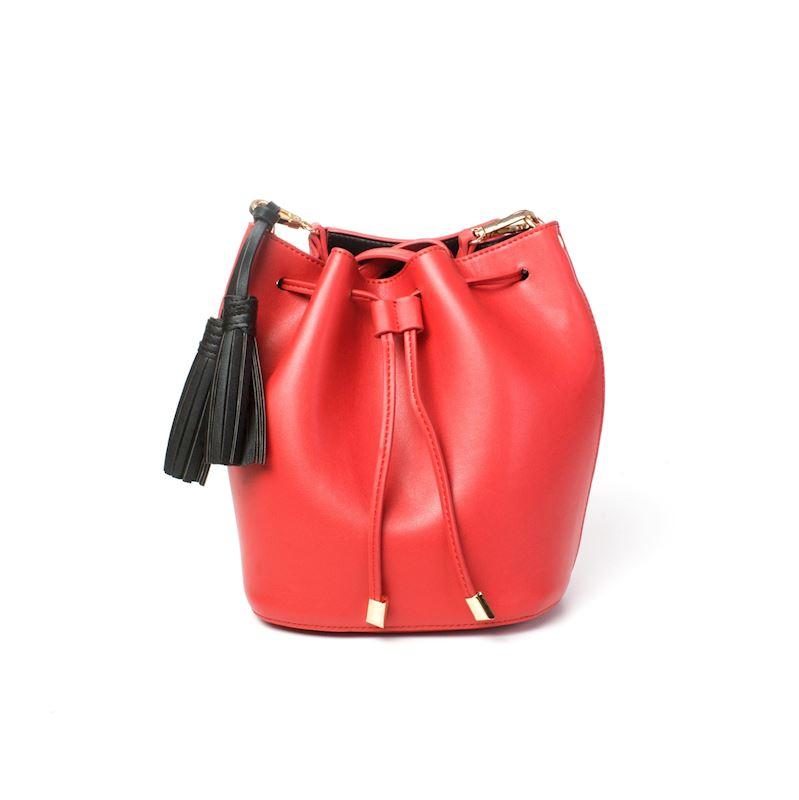 Vaková kabelka koženková červená