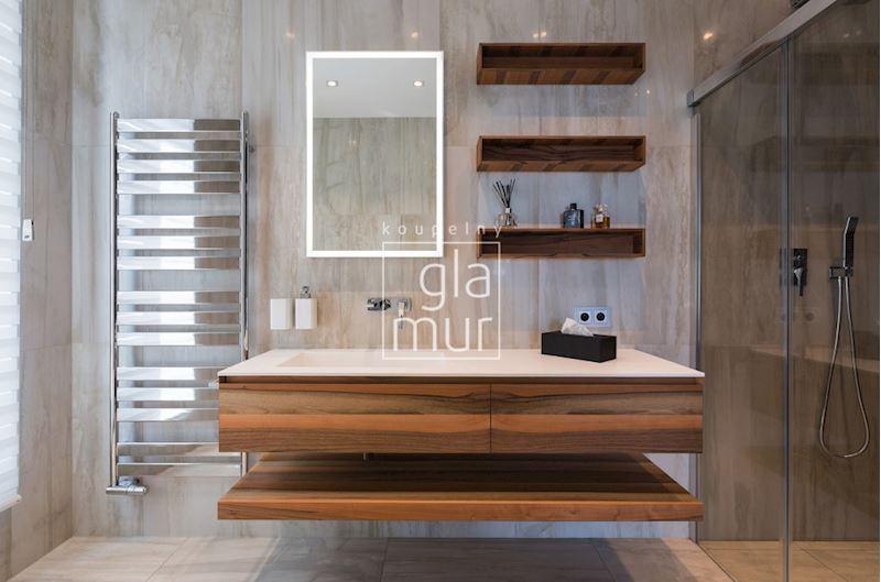 Koupelna v přírodních barvách