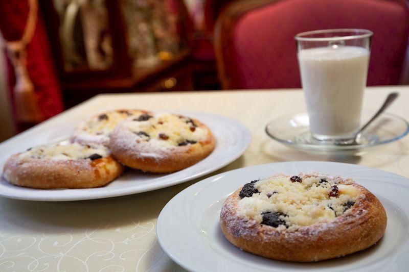 Snídaně Café Mozart/Grand hotel Praha