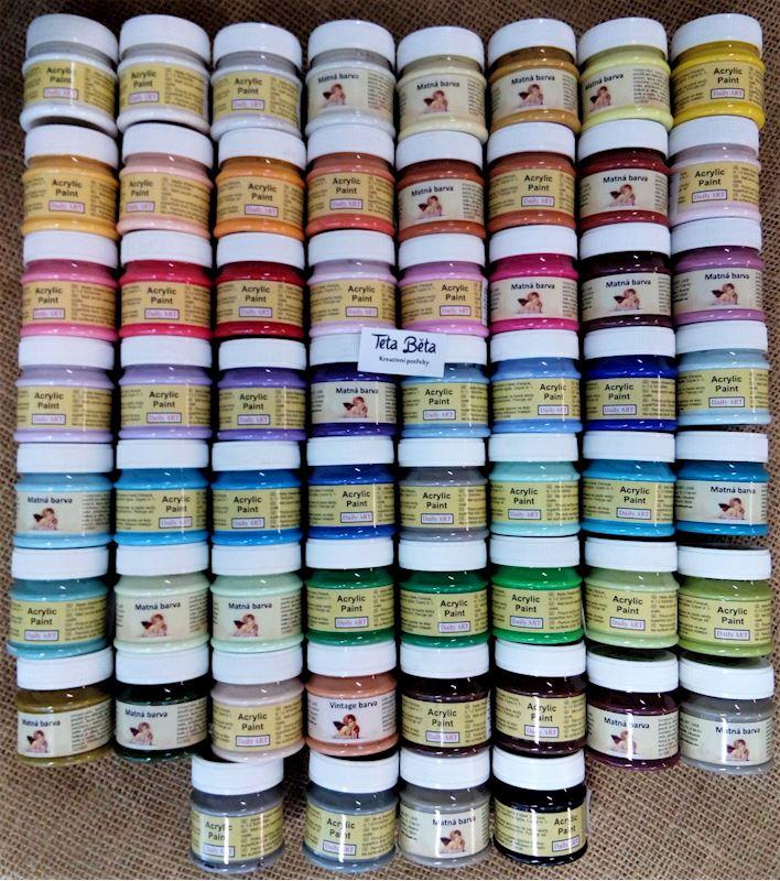 Akrylové barvy pro vaše kreativní tvoření